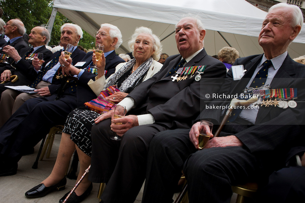 Wartime forces sweetheart Dame Vera Lynn with veteran RAF pilots make an appearance at the 70th anniversary of WW2 Battle of Britain.