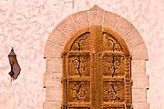 Wooden door at Scottys Castle, Death Valley National Park. California