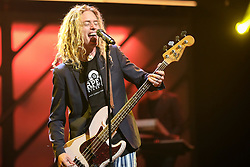 October 16, 2018 - Nashville, TN, U.S. - NASHVILLE, TN - OCTOBER 16: Phil Joel of Newsboys (United) performs during the 49th Annual Dove Awards on October 16, 2018, at Allen Arena in Nashville, TN. (Photo by Jamie Gilliam/Icon Sportswire) (Credit Image: © Jamie Gilliam/Icon SMI via ZUMA Press)