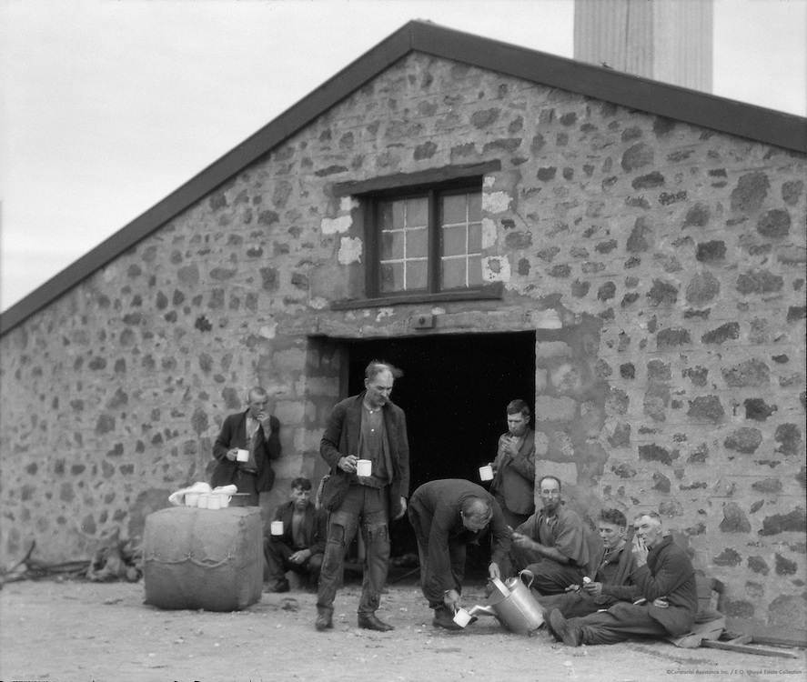 Wool Packers Having Tea, Wilgena Sheep Station, South Australia, 1930