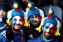 France fans show support for their team during the NatWest 6 Nations match at BT Murrayfield, Edinburgh.