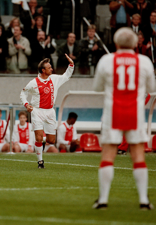 Photo: Gerrit de Heus. Amsterdam. 06/04/99. Honorary-match Johan Cruijff. Keywords: Cruyff, afscheid