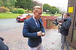 ©Licensed to London News Pictures 28/11/2019.<br /> Medway,UK. Kris Boyson arriving at court.  Trail of Katie Price's boyfriend Kris Boyson at Medway Magistrates Court, Chatham,Kent. He is accused of threatening, abusive and insulting behaviour towards a police officer after a row with a celebrity photographer.  Photo credit: Grant Falvey/LNP