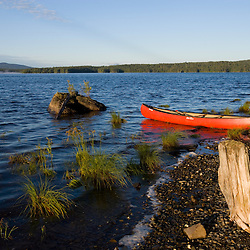 Canoeing on Maine's Brassua Lake.  Near Moosehead Lake, owned by Plum Creek.
