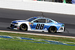 July 21, 2018 - Loudon, NH, U.S. - LOUDON, NH - JULY 21: Alex Bowman, driver of the #88 Nationwide Chevy during practice for the Monster Energy Cup Series Foxwoods Resort Casino 301 race on July, 21, 2018, at New Hampshire Motor Speedway in Loudon, NH. (Photo by Malcolm Hope/Icon Sportswire) (Credit Image: © Malcolm Hope/Icon SMI via ZUMA Press)