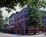 Dominion Hotel dating from 1899 on Water Street in Gastown, Vancouver, British Columbia, Canada.