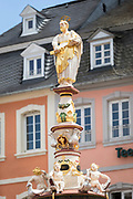 St Peter's fountain in the Marktplatz in Trier, Germany.