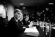 Graziano Delrio durante l'incontro al Ministero del Lavoro e delle Politiche Sociali  con sindacati e associazioni datoriali sulla legge di stabilita, Roma 27 ottobre 2014.  Christian Mantuano / OneShot