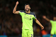 Adam Lallana of Liverpool  reacts to a decision . Premier League match, Crystal Palace v Liverpool at Selhurst Park in London on Saturday 29th October 2016.<br /> pic by John Patrick Fletcher, Andrew Orchard sports photography.