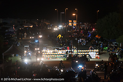The parade route on the final night of the 2016 ROT (Republic of Texas Rally). Austin, TX, USA. June 11, 2016.  Photography ©2016 Michael Lichter.