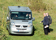 © Licensed to London News Pictures. 05/10/2014. Brentford, UK A private ambulance drives away after Police remove the body of Arnis Zalkains from Boston Manor Park today 5th October 2014. The body of a man, believed to be Latvian killer Arnis Zalkalns, was found in Boston Manor Park, Brentford, almost six weeks after the schoolgirl Alice Gross vanished.Arnis Zalkalns was prime suspect in the murder of 14-year-old Alice Gross.. Photo credit : Stephen Simpson/LNP