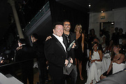 Ricky Gervaise and George Michael, The 7th GQ Man of the Year Awards, Royal Opera House. 7 September 2004. In association with Armani Mania. SUPPLIED FOR ONE-TIME USE ONLY-DO NOT ARCHIVE. © Copyright Photograph by Dafydd Jones 66 Stockwell Park Rd. London SW9 0DA Tel 020 7733 0108 www.dafjones.com