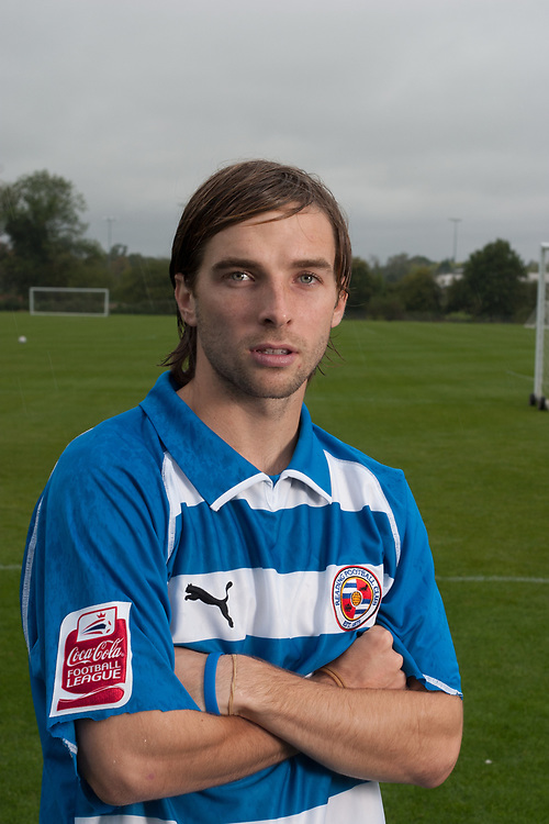 Soccer player Bobby Convey in Reading FC uniform photographed in Reading, UK