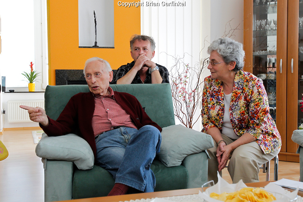 Palo, Peter, and Mom in Peter's house in Zilina, Slovakia on Saturday July 2nd 2011. (Photo by Brian Garfinkel)