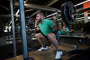 All Blacks lock Luke Romano during the All Blacks gym session at Les Mills, Wellington, in preparation for the 2nd test match between the All Blacks and the British & Irish Lions at Westpac Stadium, Wellington.    26   June   2017    New Zealand Herald photograph by Brett Phibbs