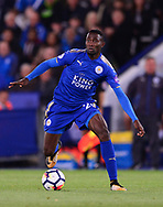 Wilfred Ndidi of Leicester city in action .Premier league match, Leicester City v West Bromwich Albion at the King Power Stadium in Leicester, Leicestershire on Monday 16th October 2017.<br /> pic by Bradley Collyer, Andrew Orchard sports photography.