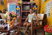 Home interior in the Makushi indigenous community of Aranaputa (North Rupununi, Guyana).