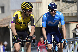 March 15, 2019 - Brignoles, France - BRIGNOLES, FRANCE - MARCH 15 : WYNANTS Maarten (BEL) of TEAM JUMBO - VISMA and ROELANDTS Jurgen (BEL) of MOVISTAR TEAM pictured during stage 6 of the 2019 Paris - Nice cycling race with start in Peynier and finish in Brignoles  (176,5 km) on March 15, 2019 in Brignoles, France. (Credit Image: © Panoramic via ZUMA Press)