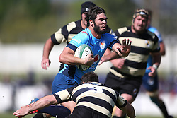 Dries Swanepoel of the Blue Bulls attempts to get past Marnus Hugo of Boland during the Currie Cup premier division match between the Boland Cavaliers and The Blue Bulls held at Boland Stadium, Wellington, South Africa on the 23rd September 2016<br /> <br /> Photo by:   Shaun Roy/ Real Time Images