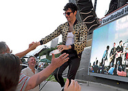 Low Cut Connie, fronted by singer Adam Weiner, performs Sept. 2, 2018, at SteelStacks in Bethlehem, Pennsylvania. (Photo by Matt Smith)