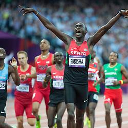 Mcc0041427.DT Olympics.Athletics Olympic Stadium.800m final Pic Shows David Lekula Rudisha breaking the world record