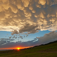 Evening thunderheads hover over Montana's Gallatin Valley.