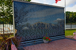 01 September 2014: Middle East Conflict Memorial  in Marseilles Illinois.  A small community along the Illinois River and a historical town along the historical Illinois Michigan canal.  The small town also hosts the Marseilles Lock operated by the Army Corp of Engineers. This image was created in part using HDR (High Dynamic Range) or Panoramic Stitching processes. If used editorially, it must be noted as such.