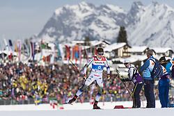 February 21, 2019 - Seefeld In Tirol, AUSTRIA - 190221 Calle Halfvarsson of Sweden competes in men's cross-country skiing sprint qualification during the FIS Nordic World Ski Championships on February 21, 2019 in Seefeld in Tirol..Photo: Joel Marklund / BILDBYRÃ…N / kod JM / 87880 (Credit Image: © Joel Marklund/Bildbyran via ZUMA Press)