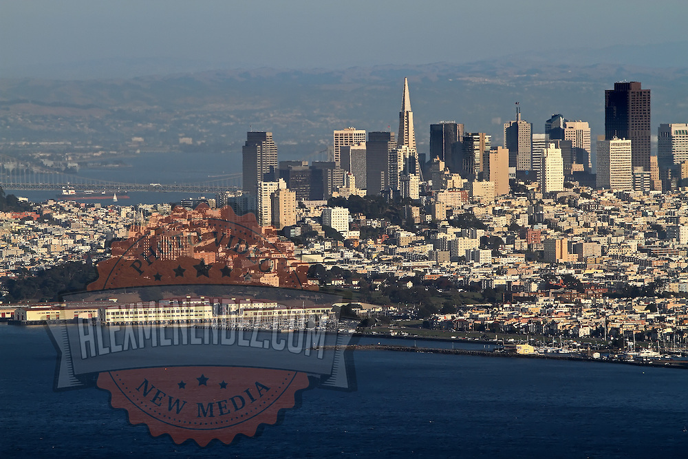 A general overview of the city skyline from the Marin Headlands in San Francisco, California on Saturday, Sept. 17, 2011. The Golden Gate Bridge is undergoing a re-painting of the main support cables for the first time in 75 years and is expected to be completed by 2015.(AP Photo/Alex Menendez) Golden Gate Bridge in San Francisco, California. Golden Gate Bridge in San Francisco, California.
