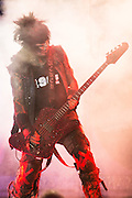 Photos of Mötley Crüe performing on The Tour at Verizon Wireless Amphitheater in St. Louis on August 27, 2012.