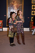 DAWN MCDANIEL; LYNN SLATER, Preview party for the Versace Sale.  The contents of fashion designer Gianni Versace's villa on Lake Como. Sothebys. Old Bond St. London. 16 March 2009.  *** Local Caption *** -DO NOT ARCHIVE -Copyright Photograph by Dafydd Jones. 248 Clapham Rd. London SW9 0PZ. Tel 0207 820 0771. www.dafjones.com<br /> DAWN MCDANIEL; LYNN SLATER, Preview party for the Versace Sale.  The contents of fashion designer Gianni Versace's villa on Lake Como. Sothebys. Old Bond St. London. 16 March 2009.