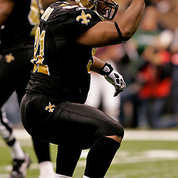 2009 December 19: New Orleans Saints defensive end Will Smith (91) celebrates after a sack during a 24-17 win by the Dallas Cowboys over the New Orleans Saints at the Louisiana Superdome in New Orleans, Louisiana.