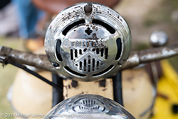 Antique Indian on display at the Antique Motorcycle Club of America (AMCA) Sunshine Chapter meet in New Smyrna Beach during Daytona Bike Week, FL. USA. Saturday, March 9, 2019. Photography ©2019 Michael Lichter.