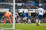 Portsmouth Midfielder, Jamal Lowe (10) runs at goal during the EFL Sky Bet League 1 match between Portsmouth and Rochdale at Fratton Park, Portsmouth, England on 13 April 2019.