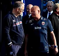 Fotball , 1. juni 2016 Privatkamp  herrer , Norge - Island<br /> Norway - Iceland<br /> trener Per-Mathias Høgmo , Norge og trener Lars Lagerback , Island