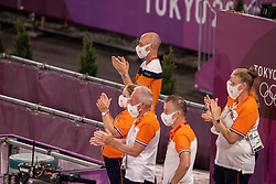 Minderhoud Hans Peter, Werner Nicole, Van Silfhout Alex<br /> Olympic Games Tokyo 2021<br /> © Hippo Foto - Dirk Caremans<br /> 27/07/2021