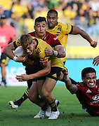 Hurricanes Ruben Love on debut. Super Rugby Aotearoa. Hurricanes v Crusaders, Sky Stadium, Wellington. Sunday 11th April 2021. Copyright photo: Grant Down / www.photosport.nz