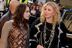 Frances Bean Cobain and Courtney Love arriving at the Chanel show as a part of Paris Fashion Week Ready to Wear Spring/Summer 2017 on October 4, 2016 in Paris, France. Photo by Julien Reynaud/APS-Medias/ABACAPRESS.COM