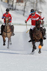 Augustin Martinez of tem Switzerland chasing the ball<br /> Match Germany - Switzerland<br /> St.Moritz Polo World Cup On Snow 2011<br /> © Dirk Caremans