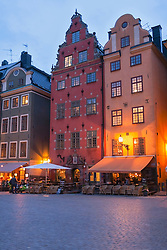 Low angle view of buildings, Stortorget, Gamla Stan, Stockholm, Sweden