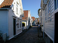 Norway, Stavanger. Gamle Stavanger, Old Stavanger, consists of 173 old wooden houses.