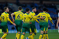 Football - 2019 / 2020 Emirates FA Cup - Fourth Round: Burnley vs. Norwich City<br /> <br /> Norwich City players celebrate after Josip Drmic put them 2-0 ahead in the second half, at Turf Moor.<br /> <br /> COLORSPORT/ALAN MARTIN