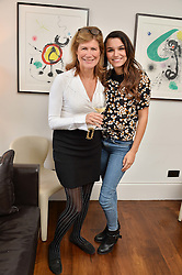 Left to right, VIRGINIE TAITTINGER and SAMANTHA BARKS at a lunch to promote the jewellery created by Luis Miguel Howard held at Morton's, Berkeley Square, London on 20th October 2016.