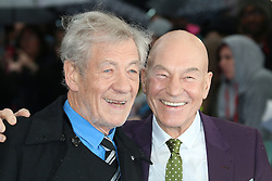 © Licensed to London News Pictures. 12/05/2014, UK. Ian McKellen; Patrick Stewart, X-Men: Days Of Future Past - UK Film Premiere, Odeon Leicester Square, London UK, 12 May 2014. Photo credit : Richard Goldschmidt/Piqtured/LNP