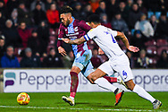 Kyle Wootton of Scunthorpe United (29) shapes to shoot during the EFL Sky Bet League 1 match between Scunthorpe United and Coventry City at Glanford Park, Scunthorpe, England on 5 January 2019.