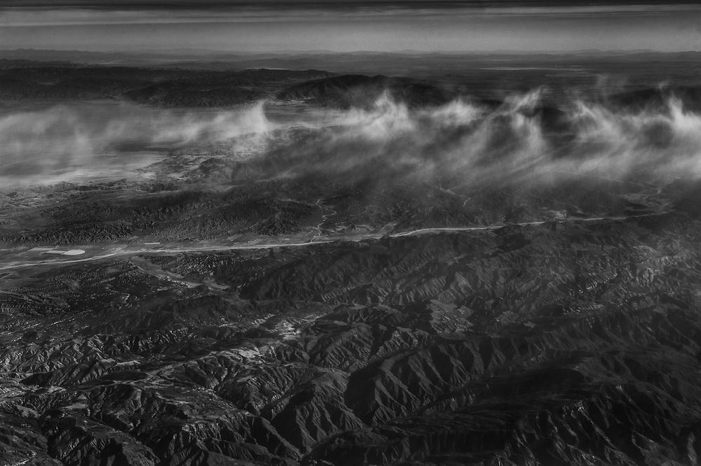 Somewhere over California.