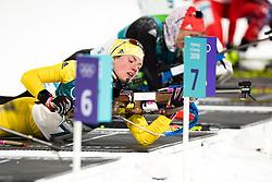 February 12, 2018 - Pyeongchang, SOUTH KOREA - 180212  Hanna Öberg of Sweden competes in the Women's Biathlon 10km Pursuit during day three of the 2018 Winter Olympics on February 12, 2018 in Pyeongchang..Photo: Jon Olav Nesvold / BILDBYRÃ…N / kod JE / 160156 (Credit Image: © Jon Olav Nesvold/Bildbyran via ZUMA Press)