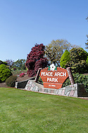 Provincial Park sign at Peace Arch Provincial Park in South Surrey, British Columbia, Canada