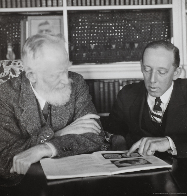 George Bernard Shaw with Dr. Henderson, England, UK, 1930
