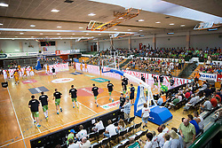 Litija sports hall during friendly match between National teams of Slovenia and Republic of Macedonia for Eurobasket 2013 on July 28, 2013 in Litija, Slovenia. (Photo by Vid Ponikvar / Sportida.com)